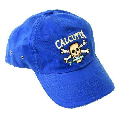 Adjustable Strap Low Profile Baseball Cap in Royal Blue with Fade-Resistant Logo