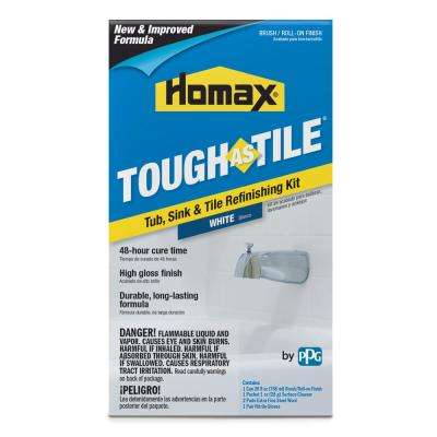 26 oz. White Tough as Tile One Part Brush On Kit