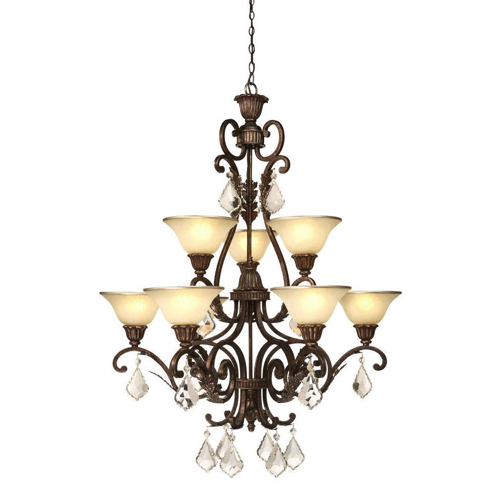 Elegant Designs 2 Light Oil Rubbed Bronze Kitchen Pot Rack