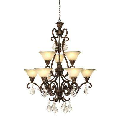 Florence 9-Light Oil Rubbed Bronze Chandelier