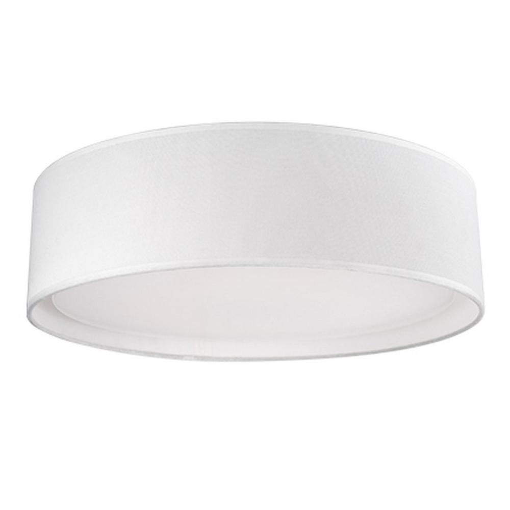Radionic Hi Tech Arlington 60-Watt Equivalence White Integrated LED Ceiling Flush Mount