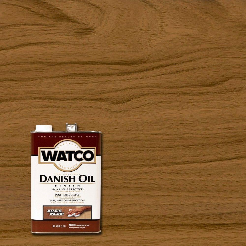 1 gal. Medium Walnut 350 VOC Danish Oil (Case of 2)