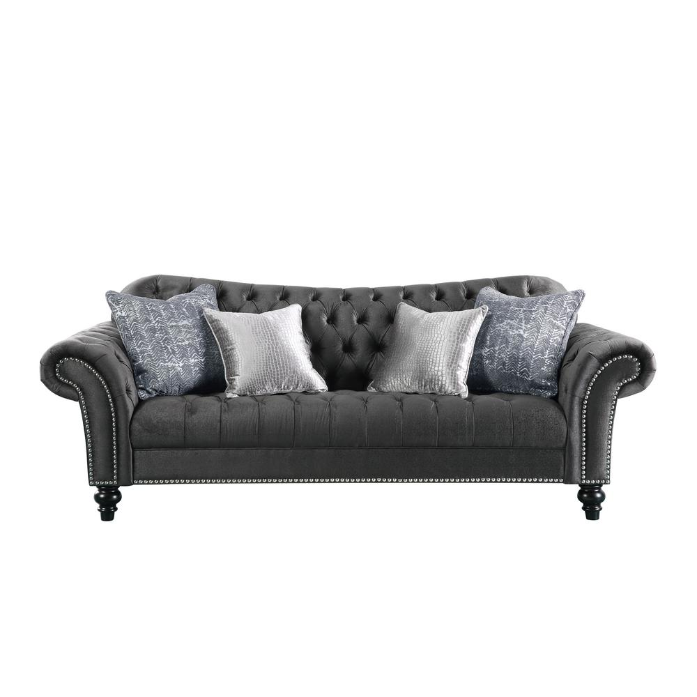 Charmant Acme Furniture Gaura Dark Gray Fabric Sofa
