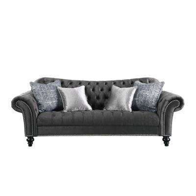 Gaura Dark Gray Fabric Sofa