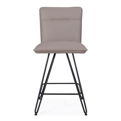 Crossroads Demi Taupe Synthetic Leather Return Swivel Counter Stool