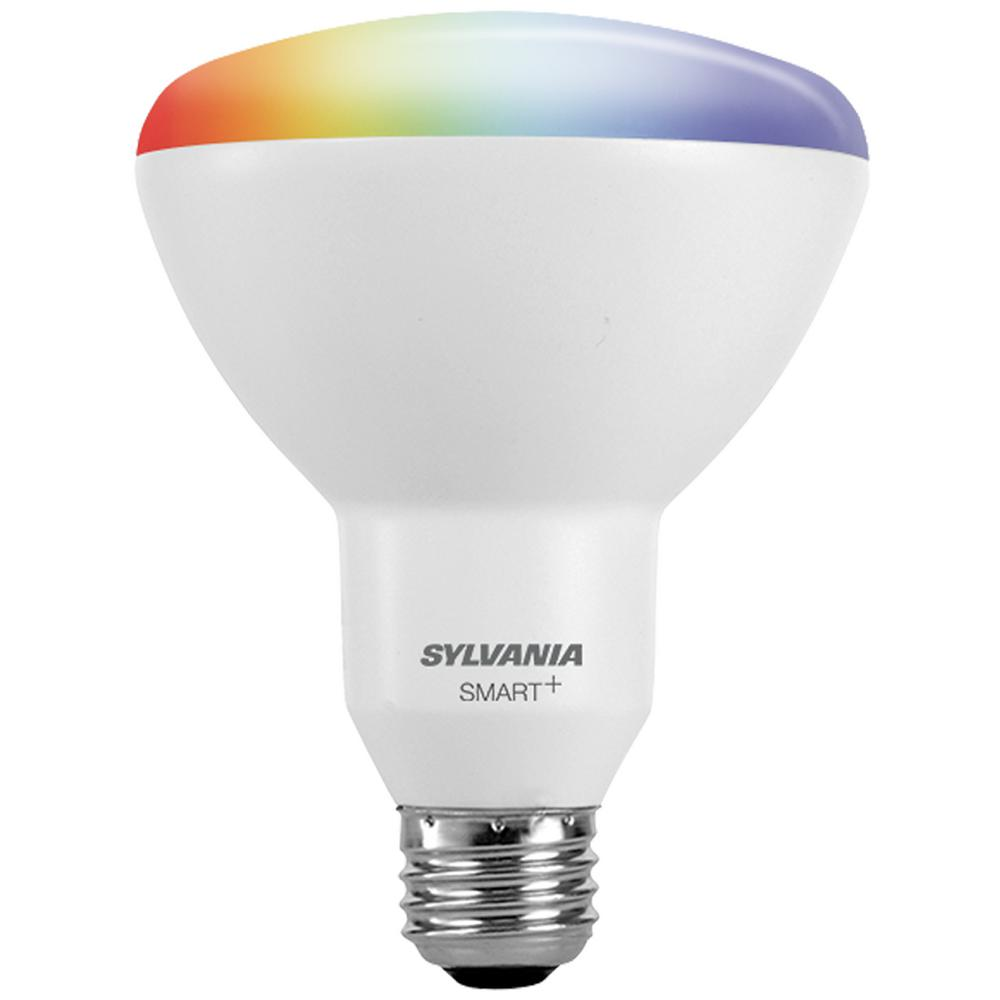 Sylvania smart zigbee full color br30 led smart light bulb 73739 the home depot Smart light bulbs