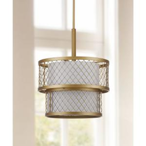 Evie Mesh 6-Light Antique Gold Pendant
