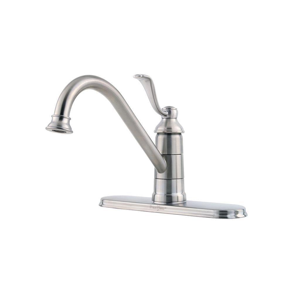 Portland Single Handle Standard Kitchen Faucet In Stainless Steel