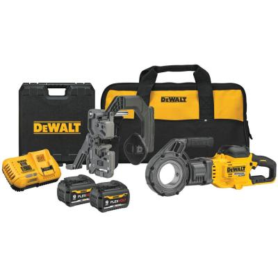 FLEXVOLT 60-Volt MAX Lithium-Ion Cordless Pipe Threader Kit with Two Batteries 9 Ah, Charger and Bag