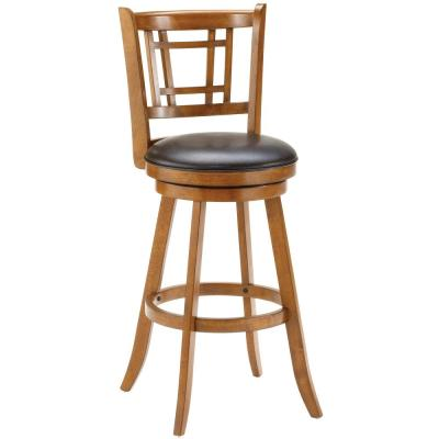 Fairfox 24.5 in. Oak Swivel Counter Stool