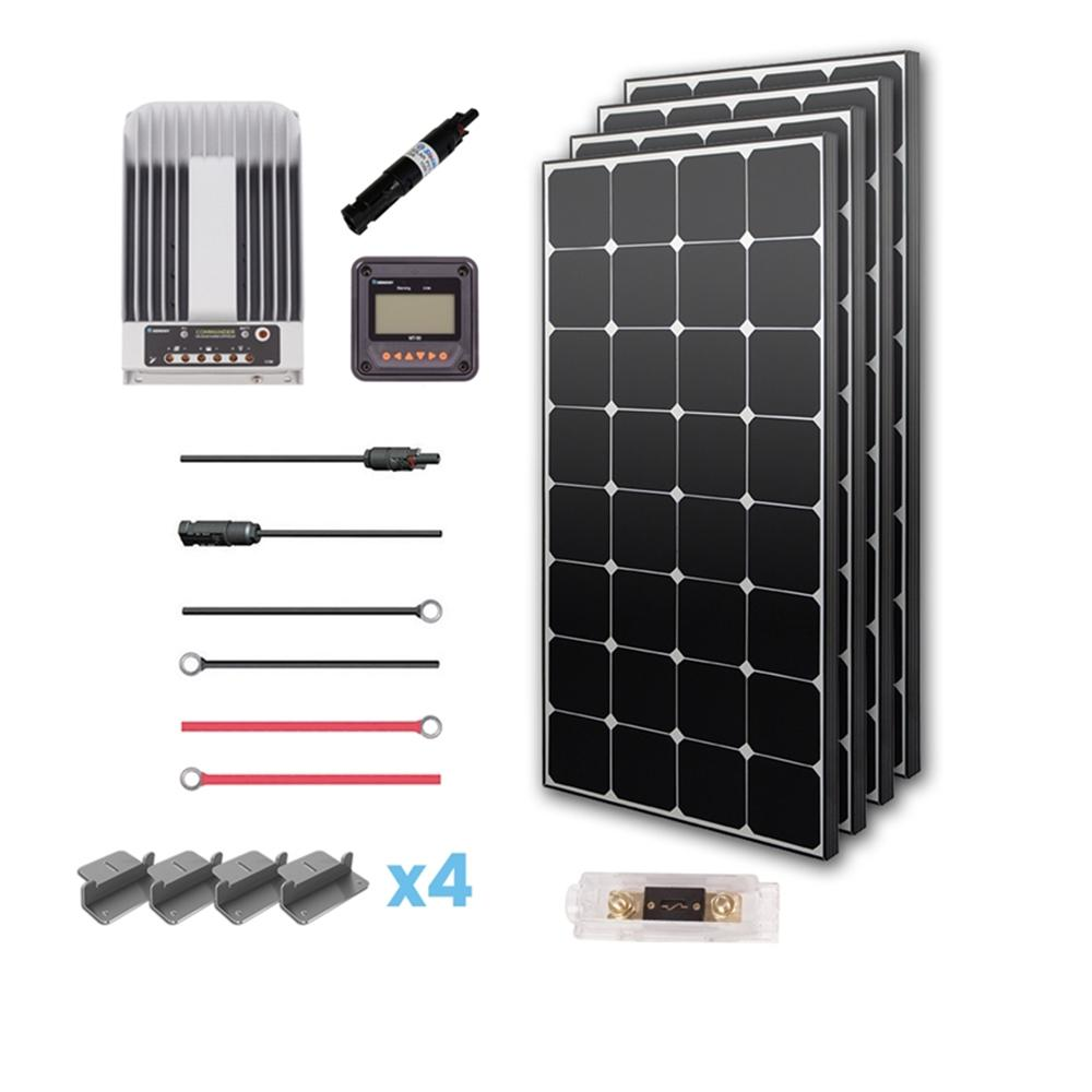 Renogy 400 Watt 12 Volt Eclipse Solar Premium Kit For Rv