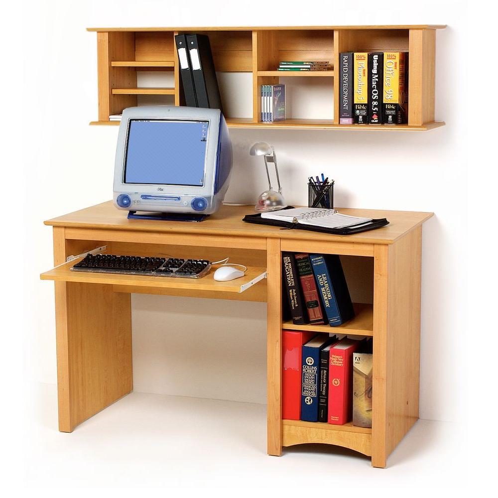 Prepac Computer Desk in Maple