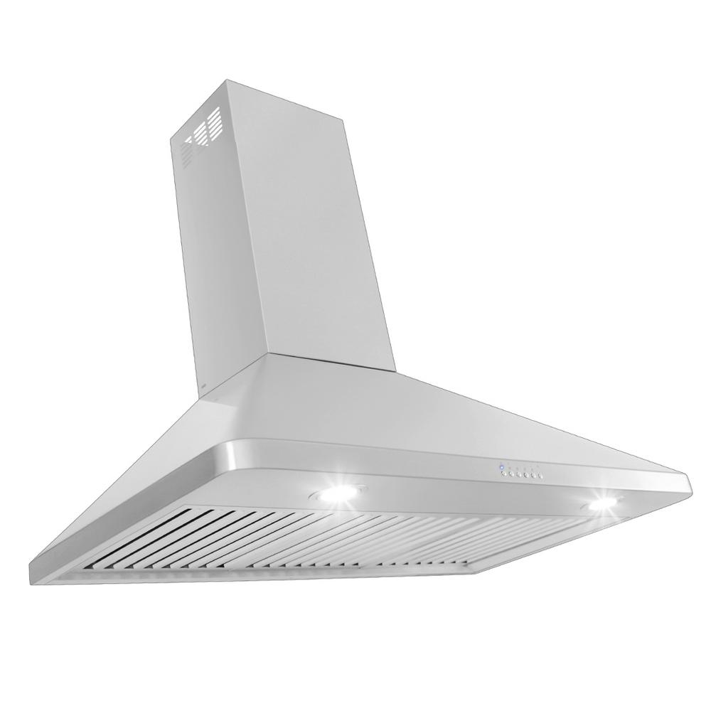 Proline Range Hoods 36 in. 900 CFM Ducted Wall Mount with Light in Brushed Stainless Steel
