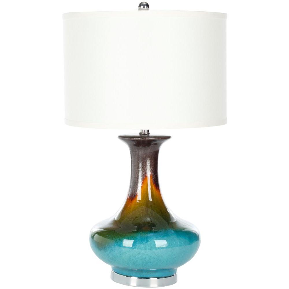 Safavieh Mercury 33 In Light Blue Table Lamp LIT4141B