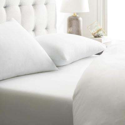 5-Piece Brushed Microfiber Ivory Split King Sheet Set