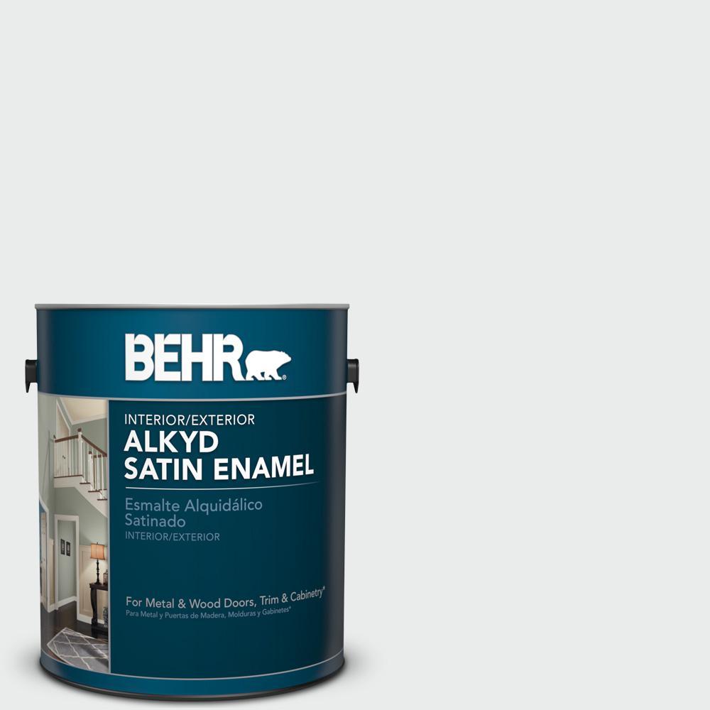 1 gal. #BWC-12 Vibrant White Satin Enamel Alkyd Interior/Exterior Paint