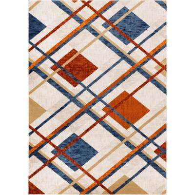 New Age Williamsburg Tartan Beige 7 ft. 10 in. x 9 ft. 10 in. Modern Plaid Area Rug