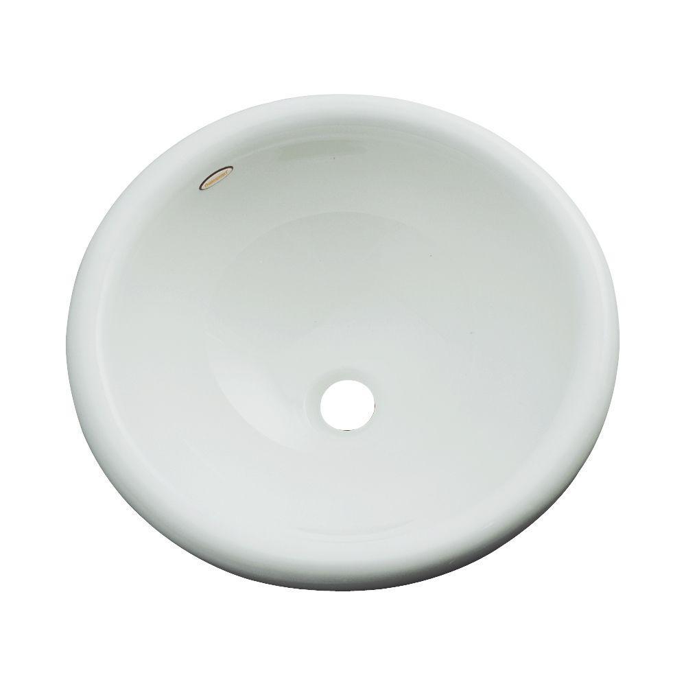 Thermocast Eudora Drop-In Bathroom Sink in Sterling Silver
