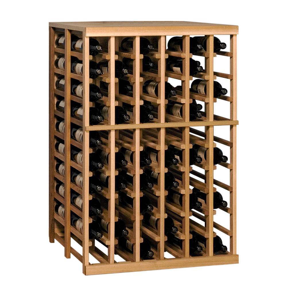 120-Bottle Pine Floor Wine Rack