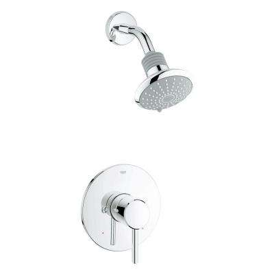 Concetto Single-Handle Shower Only Faucet Trim Kit in StarLight Chrome (Valve Sold Separately)