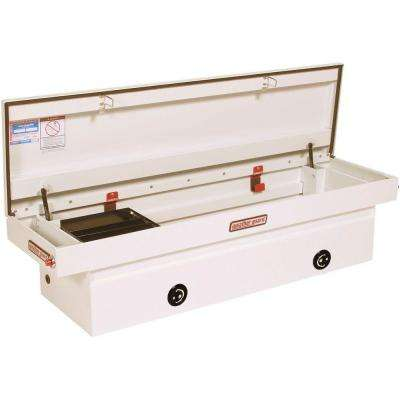 71.5 in. White Steel Full Size Crossbed Truck Tool Box