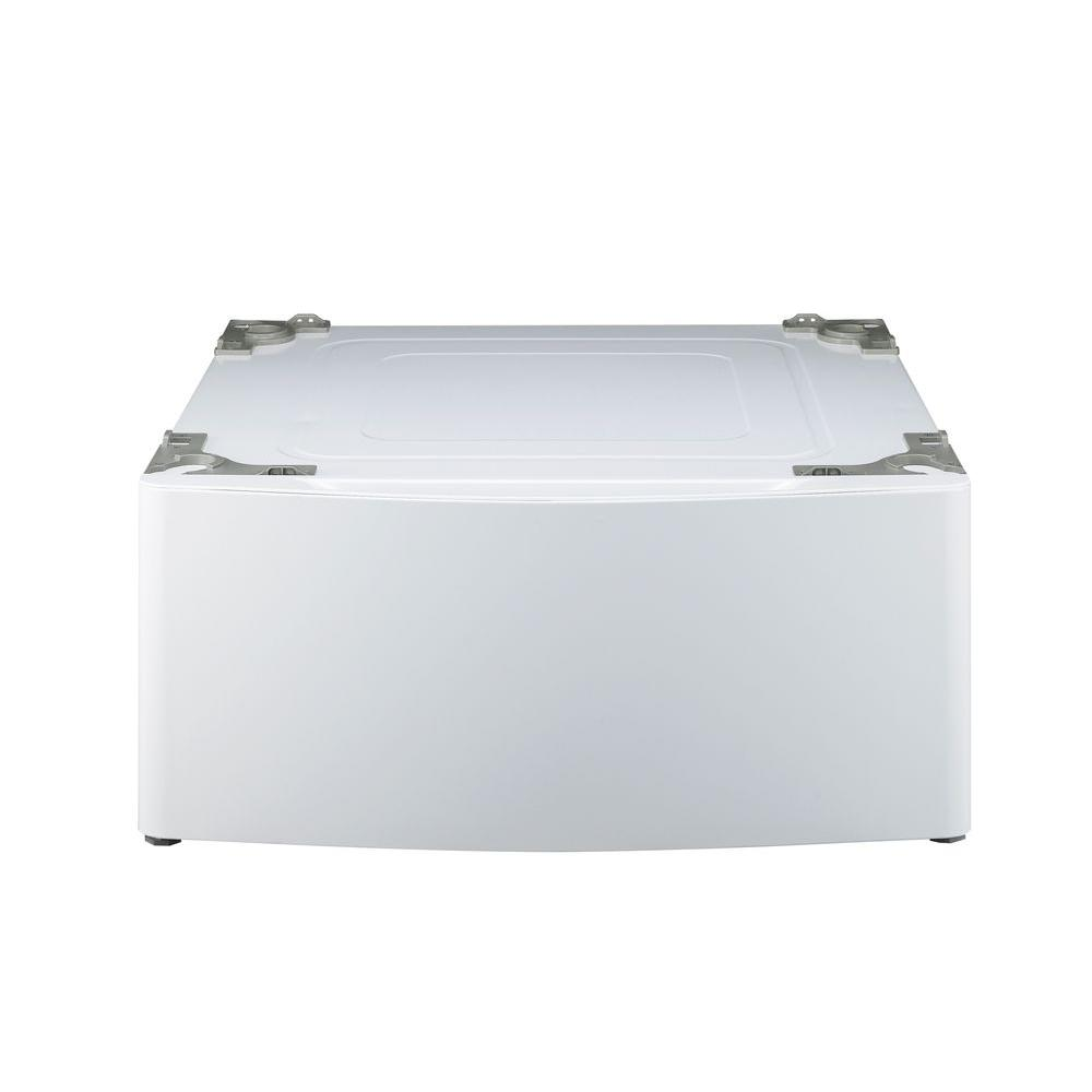LG Electronics 29 in. Laundry Pedestal with Storage Drawer in White
