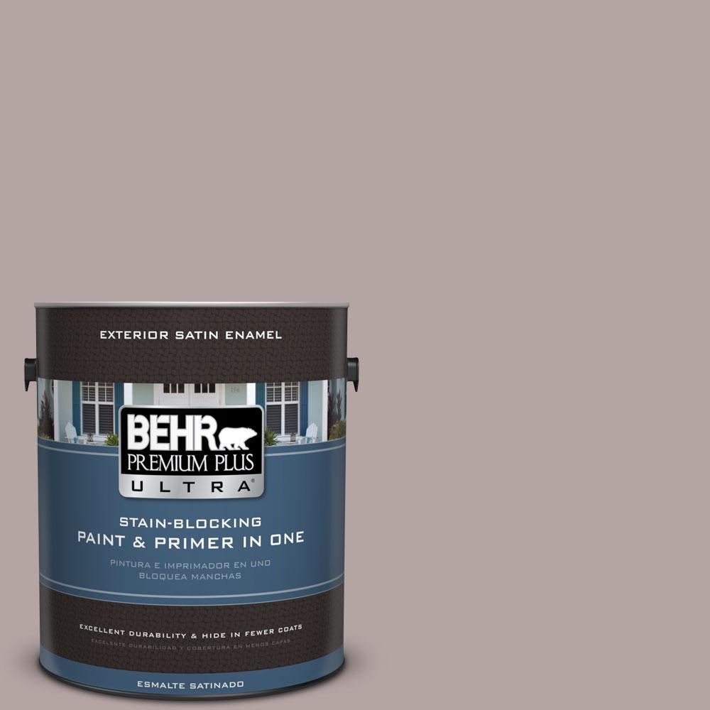 BEHR Premium Plus Ultra Home Decorators Collection 1-gal. #HDC-NT-19 Lavender Suede Satin Enamel Exterior Paint