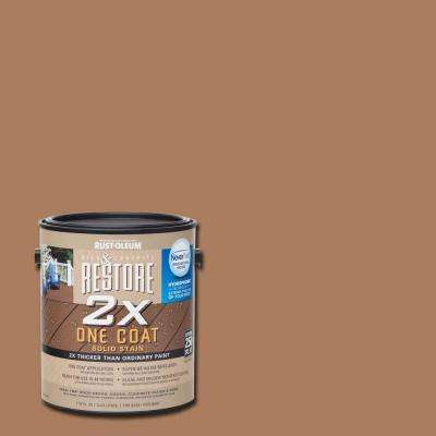 1 gal. 2X Santa Fe Solid Deck Stain with NeverWet
