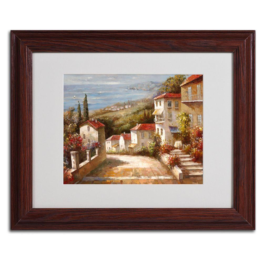 11 in. x 14 in. Home in Tuscany Matted Framed Art