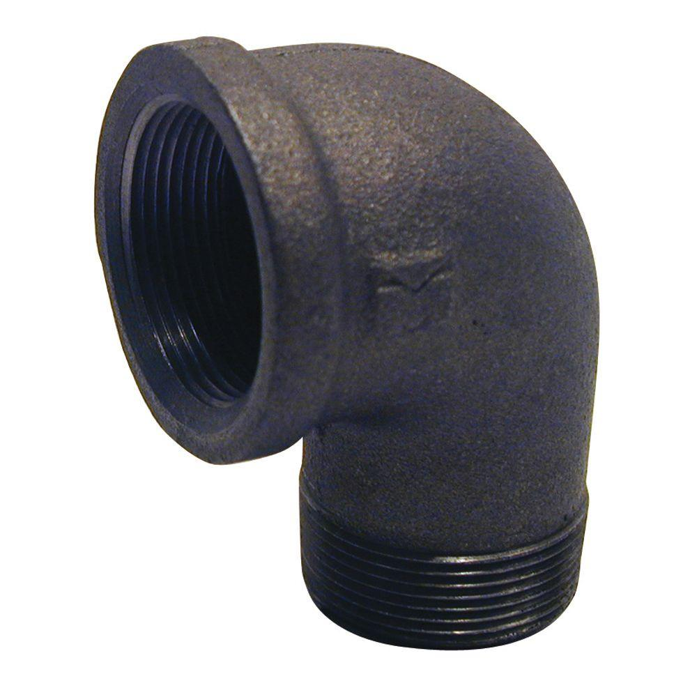 3/4 in. Black Malleable Iron 90° FPT x MPT Street Elbow