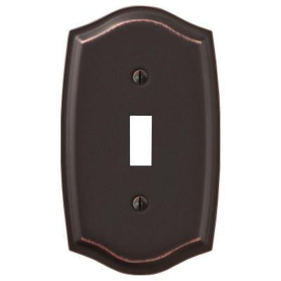 Vineyard 1 Gang Toggle Steel Wall Plate - Aged Bronze