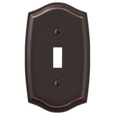 Vineyard 1 Toggle Wall Plate - Oil-Rubbed Bronze Steel