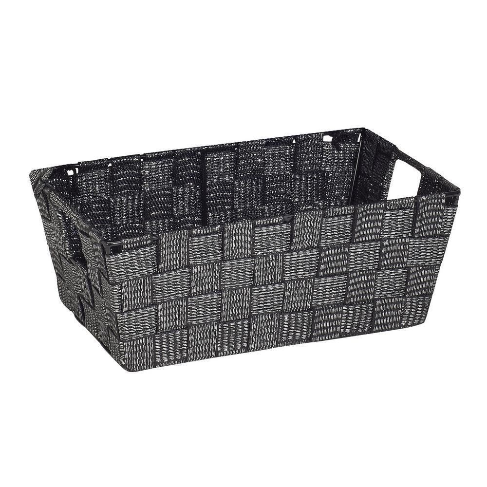 Small Lurex Striped Woven Strap Shelf Tote