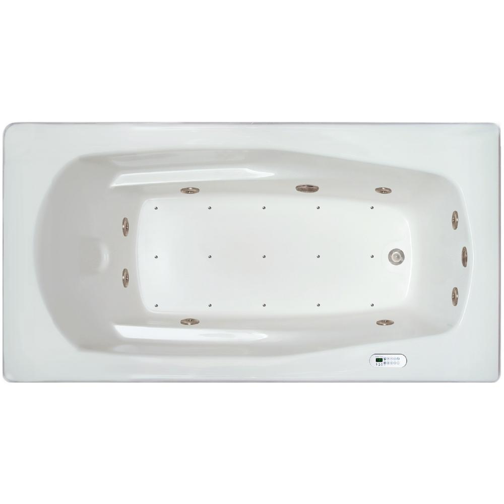 5.92 ft. Left Drain Drop-in Rectangular Whirlpool and Air Bath Tub
