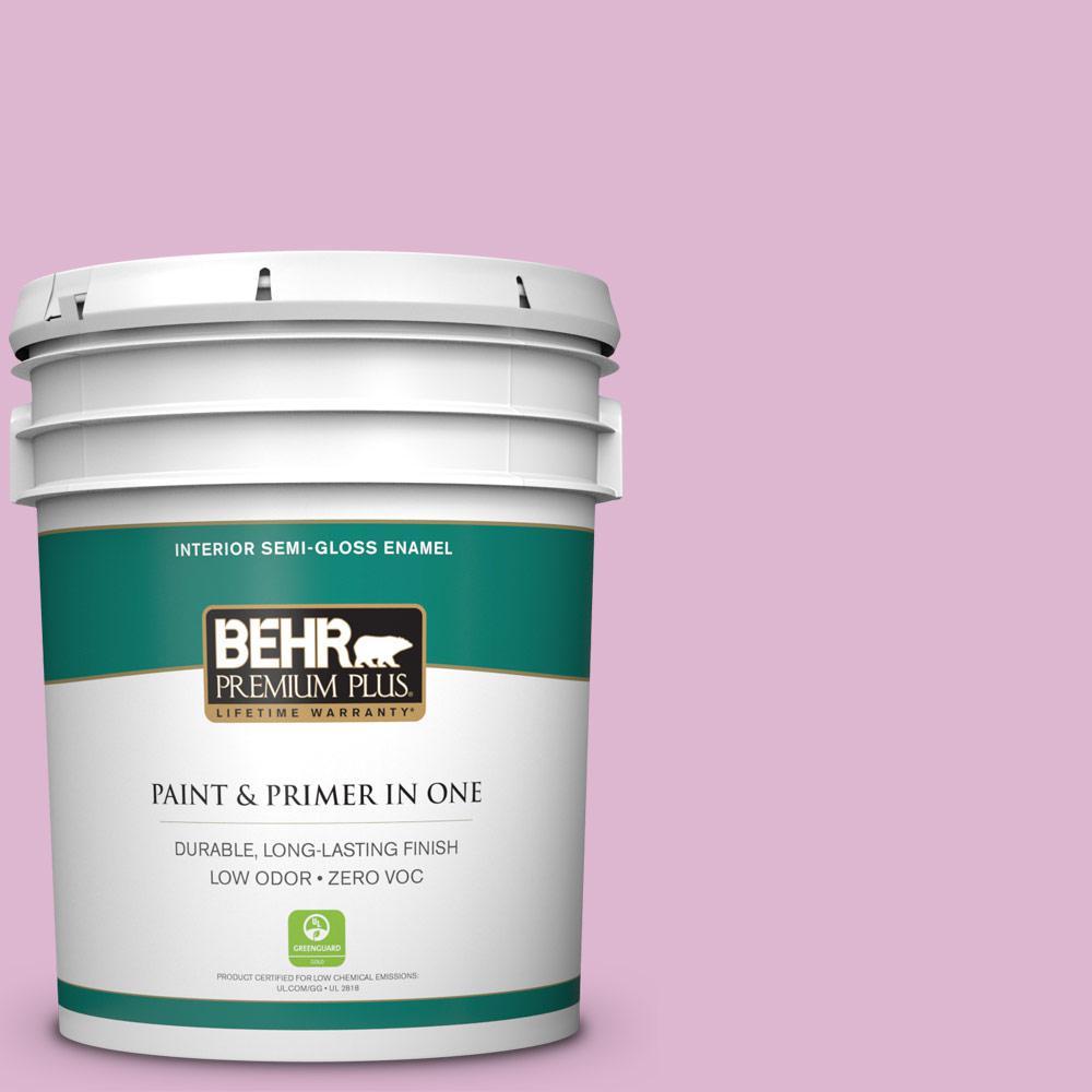 5-gal. #M120-3 Pink Wink Semi-Gloss Enamel Interior Paint
