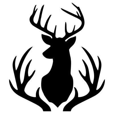 Buck Mount and Antlers Stencil