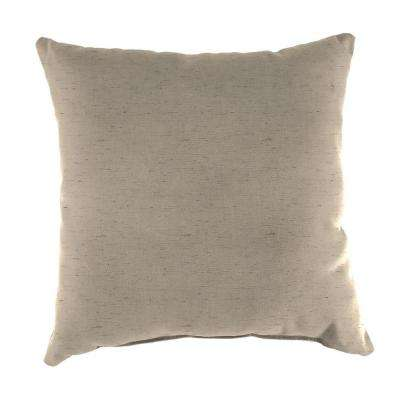 Sunbrella Frequency Sand Square Outdoor Throw Pillow