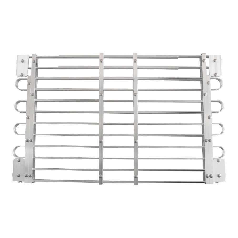 22 - 25 in. x 45 - 60 in. Adjustable Aluminum Window Well Grate