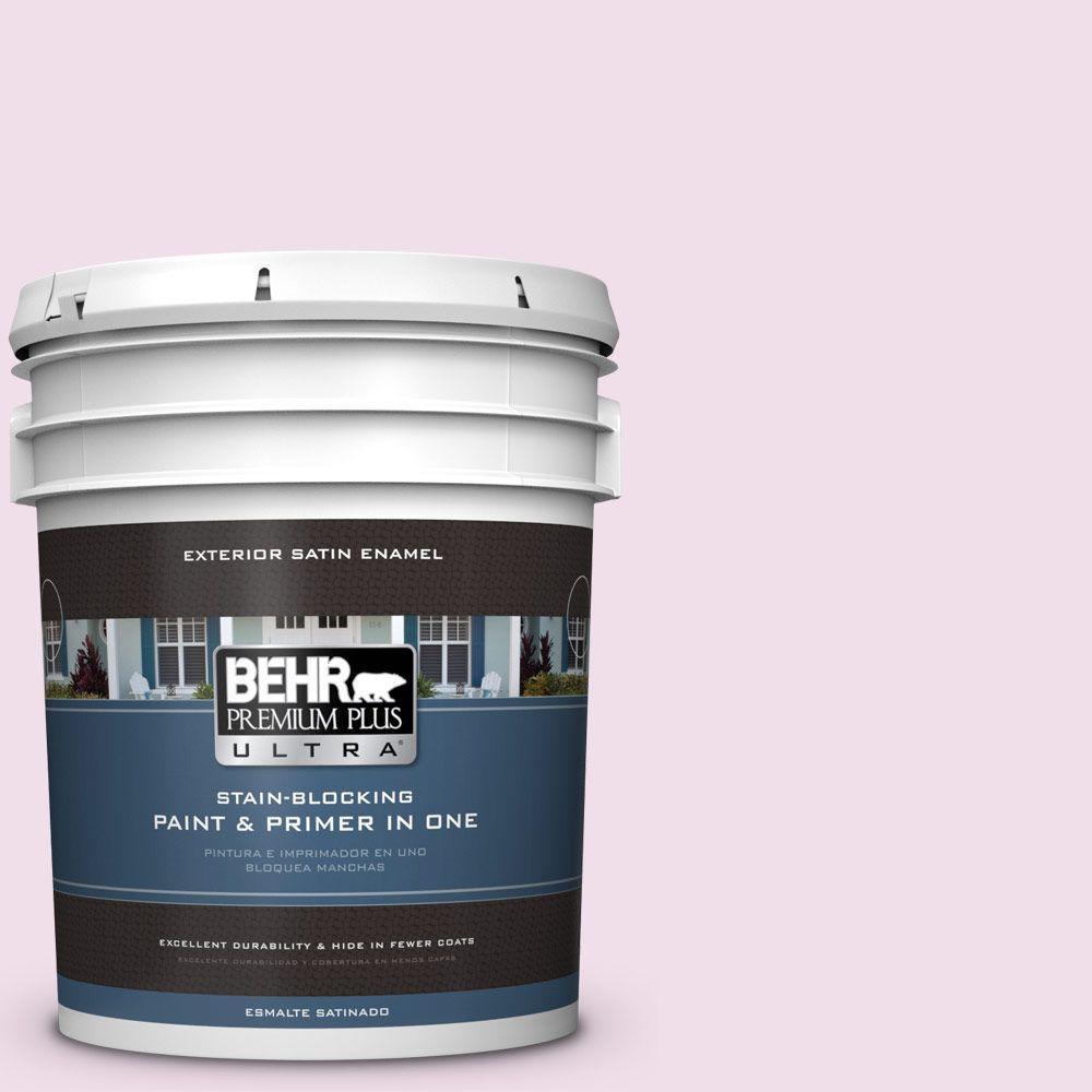 BEHR Premium Plus Ultra 5-gal. #M120-1 Pink Proposal Sati...