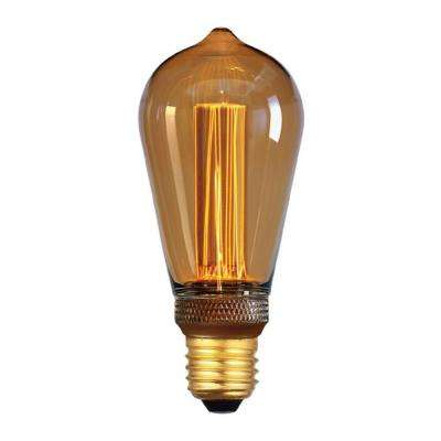 40-Watt Equivalent A19 Dimmable Indoor Amber LED Light Bulb Warm White