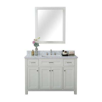 Norwalk 48 in. W x 34.2 in. H x 22 in. D Vanity in White with Marble Vanity Top in White with White Basin