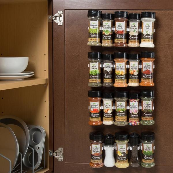 Lavish Home White Spice Rack Organizer