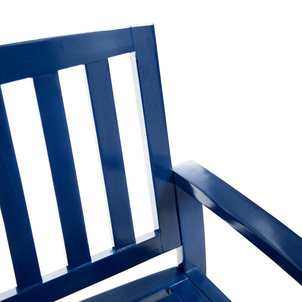 Fabulous Noble House Loja 2 Person Navy Blue Wood Outdoor Bench Cjindustries Chair Design For Home Cjindustriesco