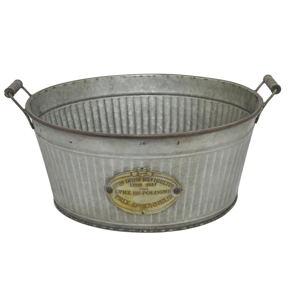 THREE HANDS Galvanized Metal Bucket-39492