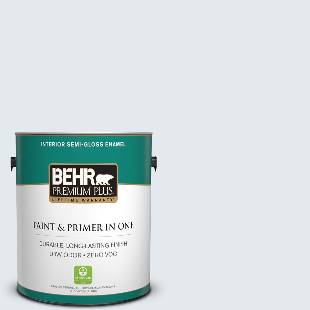BEHR Premium Plus 1-gal. #740E-1 Dream Catcher Zero VOC Semi-Gloss Enamel Interior Paint