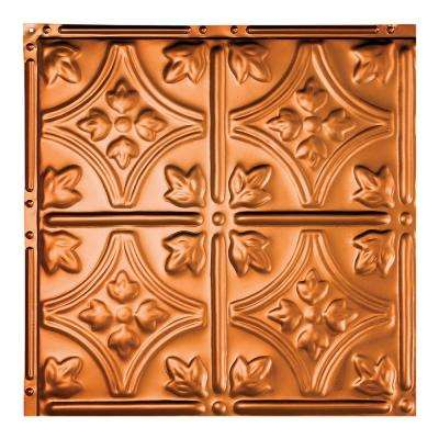 Hamilton Copper 12 in. x 12 in. Nail-Up Ceiling Tile Sample