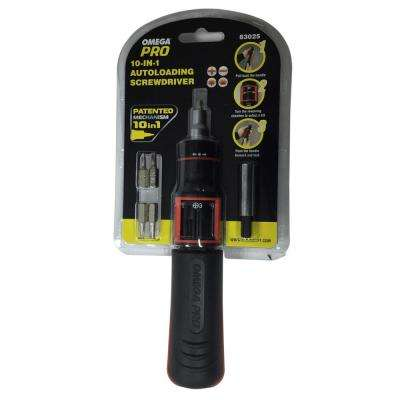 10-in-1 Auto Loading Ratcheting Screwdriver