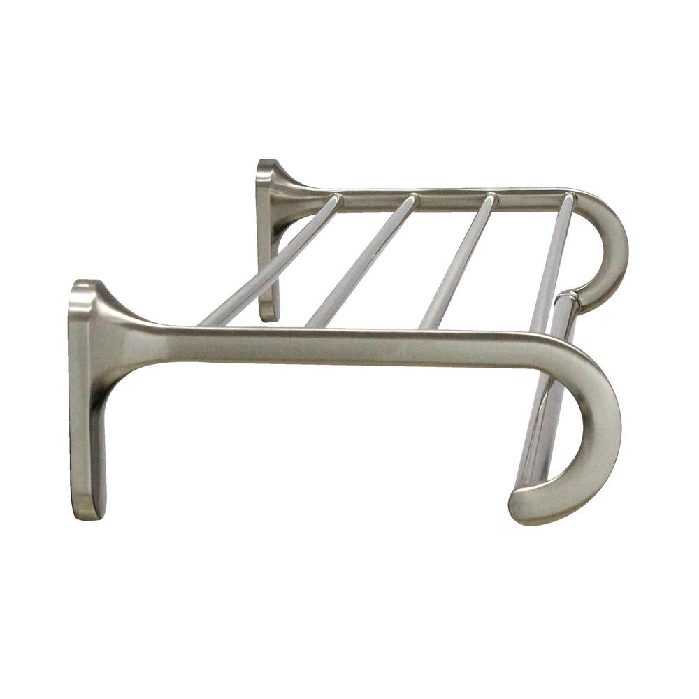 Modona 24 In Wall Mounted Towel Rack Satin Nickel