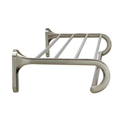 24 in. Wall Mounted Towel Rack in Satin Nickel