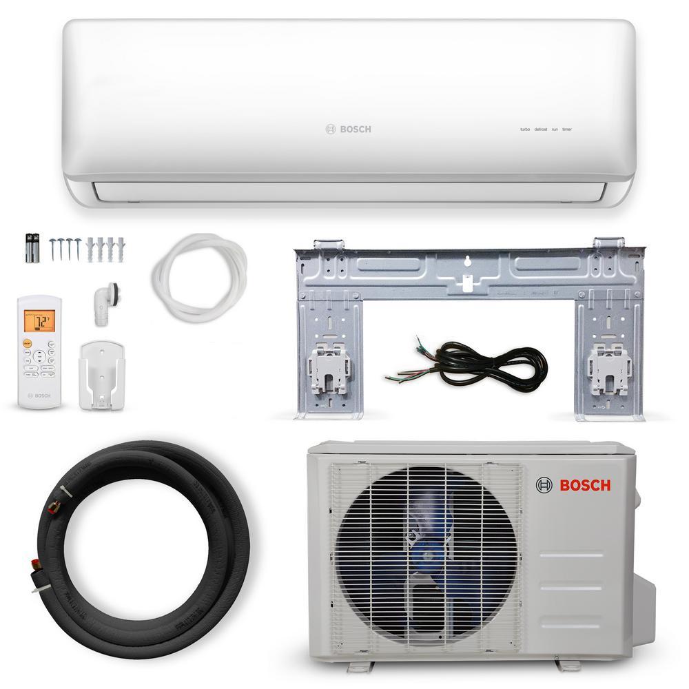 Bosch Gen 2 Climate 5000 Energy Star 24 000 Btu 2 Ton Ductless Mini Split Air Conditioner With Heat Pump 230 Volt 60 Hz 8733954426 The Home Depot